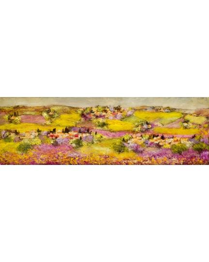 """""""Peripezie d'uno sguardo"""" (Peripetia of one glance) Luciano Pasquini (oil on canvas, 180 х 60 см, 2016)"""