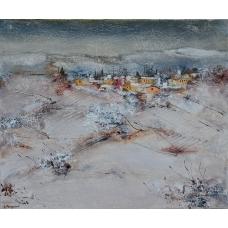 """""""Bianchi volti"""" (The white faces) Luciano Pasquini (oil on canvas, 50 х 60 см, 2016)"""