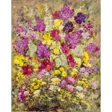 """""""I ritmi scarlatti"""" (The crimson rhythms) Luciano Pasquini (oil on canvas, 80 х 100 см, 2016)"""
