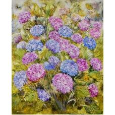 """""""Il respiro dei fiori"""" (The breath of flowers) Luciano Pasquini (oil on canvas, 80 х 100 см, 2016)"""