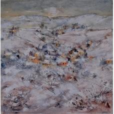 """""""Lucente cammino"""" (Glowing path) Luciano Pasquini (oil on canvas, 100 х 100 см, 2016)"""
