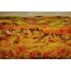 """""""Sorsi di quiete"""" (The breathes of silence) Luciano Pasquini (oil on canvas, 150 х 100 см, 2016)"""