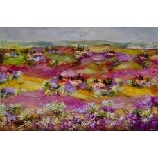 """""""Col vento di'ogni fragranza"""" (Wind of fragrances) Luciano Pasquini (oil on canvas, 150 х 100 см, 2016)"""