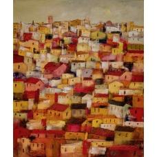 """""""Lo scialle romantico"""" (The romantic shawl) Luciano Pasquini (oil on canvas, 100 х 120 см, 2016)"""