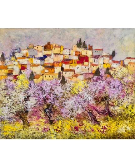 """""""Il respiro dei fiori"""" (The breath of flowers) Luciano Pasquini (oil on canvas, 120 х 100 см, 2017)"""