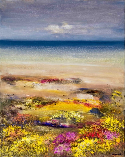 """""""L'ultimo spondo mansueto"""" (The last soft sigh) Luciano Pasquini (oil on canvas, 80 х 100 см, 2017)"""