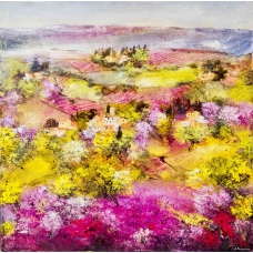 """Le carezze pure"" (The simple gentle touches) Luciano Pasquini (oil on canvas, 100 х 100 см, 2017)"