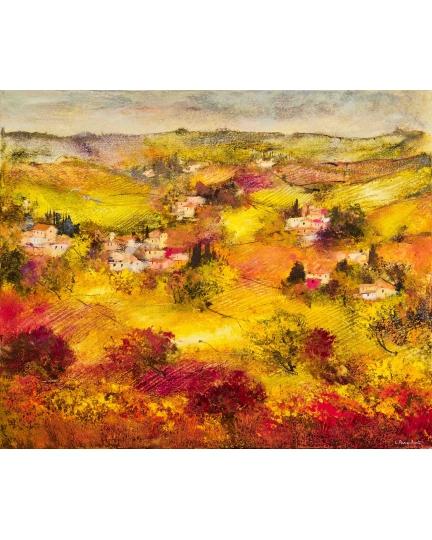 """Latitudini soffici"" (The soft spaces) Luciano Pasquini (oil on canvas, 120 х 100 см, 2017)"