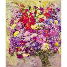 """""""Il regno corollante"""" (The blooming kingdom) Luciano Pasquini (oil on canvas, 50 х 60 см, 2016)"""