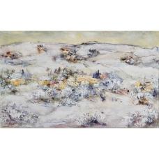 """""""Bianchi volti"""" (The white faces) Luciano Pasquini (oil on canvas, 130 х 80 см, 2016)"""