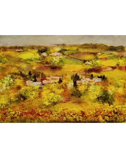 """""""Ondeggiare con le erbe"""" (Wiggle with herbs) Luciano Pasquini (холст, масло, 100 х 70 см, 2016)"""