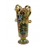 "CYLINDRICAL VASE with two handles in the style of Byzantine mosaics H47cm from the ""Gold&Green"" series"