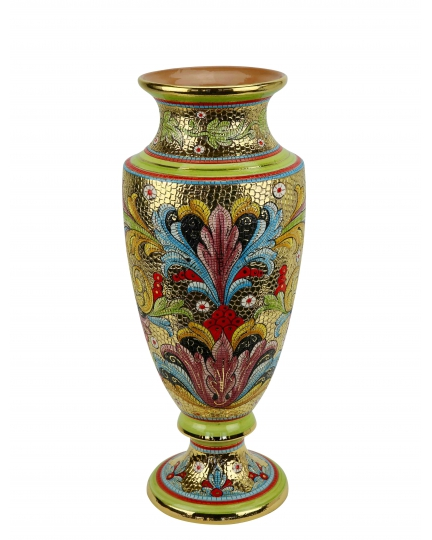 "IMPERO MEDIUM VASE in the style of Byzantine mosaics H51cm from the ""Gold&Green"" series"