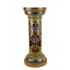 "MEDIUM COLUMN in the style of Byzantine mosaics H71cm from the ""Gold&Green"" series"