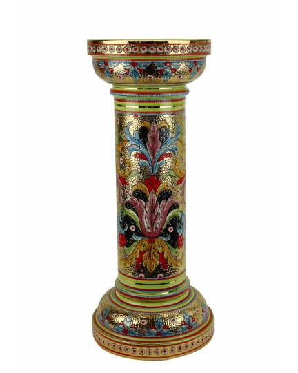 """MEDIUM COLUMN in the style of Byzantine mosaics H71cm from the """"Gold&Green"""" series"""