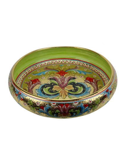 "BOWL in the style of Byzantine mosaics D41cm from the ""Gold&Green"" series"