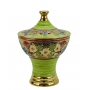 """BOWL with lid in the style of Byzantine mosaics H28cm from the """"Gold&Green"""" series"""