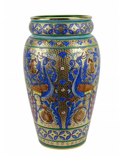 "UMBRELLA STAND №1 in the style of Byzantine mosaics H49cm from the ""Gold&Azure"" series"