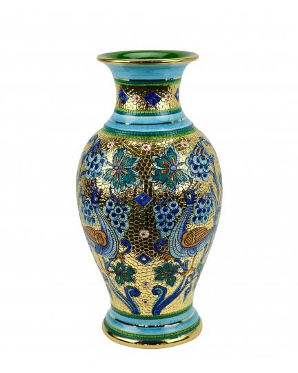 """ВАЗА средняя в стиле Византийская мозаика H41см из серии """"Gold&Azure"""""""