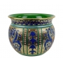 "PLANTER in the style of Byzantine mosaics H29cm from the ""Gold&Azure"" series"