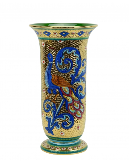 "FLOWER VASE in the style of Byzantine mosaics H34cm from the ""Gold&Azure"" series"
