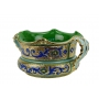 """BOWL with two handles in the style of Byzantine mosaics D34cm from the """"Gold&Azure"""" series - photo 2"""