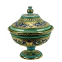 """FOOTED BOWL with lid in the style of Byzantine mosaics H40cm from the """"Gold&Azure"""" series - photo 2"""