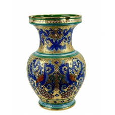 "VASE ""GIARRA"" in the style of Byzantine mosaics H49cm from the ""Gold&Azure"" series"