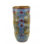 "VASE in the style of Byzantine mosaics H41cm from the ""Gold&Skyblue"" series"