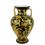 "VASE with two gold-plated handles H53cm from the ""Yellow on Black"" series"