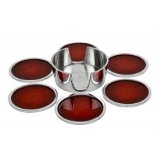 GLASS SUPPORT SET  (ecoaluminum, red enamel)