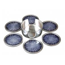 GLASS SUPPORT SET  (ecoaluminum, grey enamel)