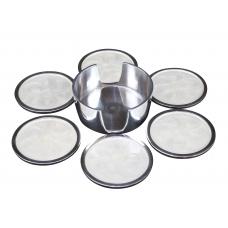 GLASS SUPPORT SET  (ecoaluminum, white enamel)