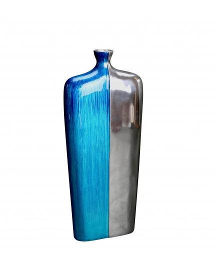 ECO-ALUMINUM VASE  (Submarine series, turquoise enamel)