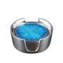 GLASS SUPPORT SET  (ecoaluminum, turquoise enamel) - photo 3