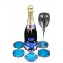 GLASS SUPPORT SET  (ecoaluminum, turquoise enamel) - photo 2